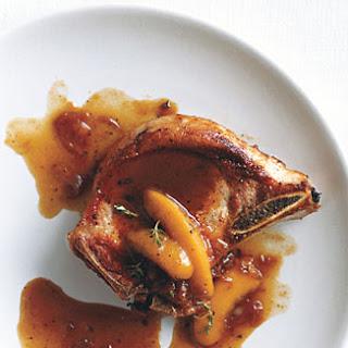 Brandied-Peach Pork Chops.