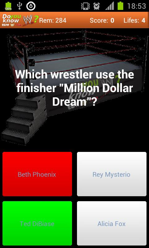 Do you know?  Wrestling Quiz - screenshot