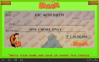 Screenshot of KBC Quiz with Bheem