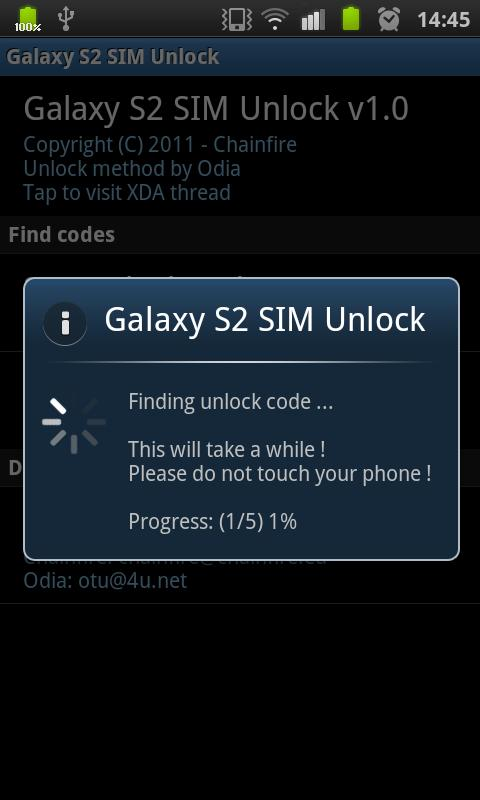 [root] Galaxy S2 SIM Unlock - screenshot