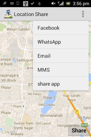 Location Share- screenshot