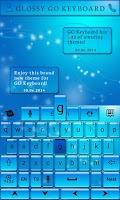Screenshot of Glossy GO Keyboard Theme