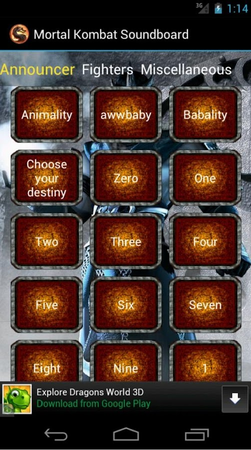 Mortal Kombat Soundboard - screenshot