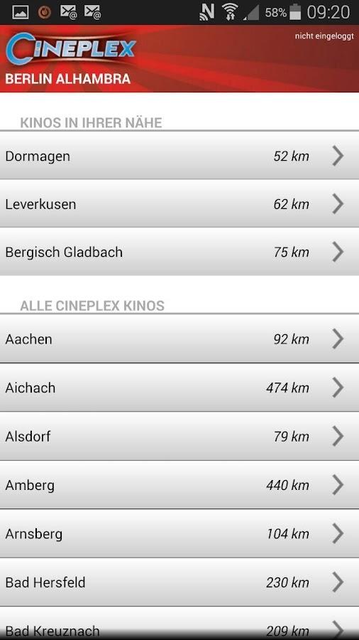 CINEPLEX Kinoprogramm - screenshot