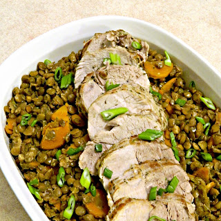 Pork Sirloin Roast with Lentils