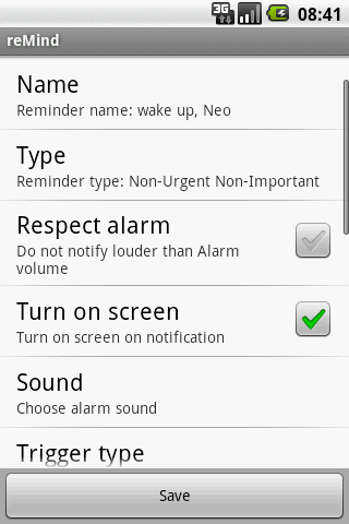 reMind Alarm Clock - screenshot