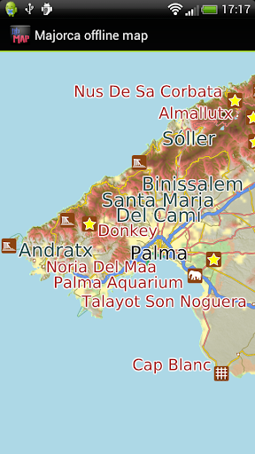 Majorca offline map