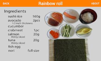 Screenshot of Flickfood Sushi Recipes