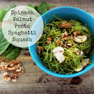 Spinach Walnut Pesto Spaghetti Squash