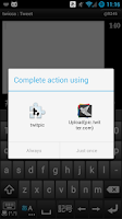Screenshot of twitpic plug-in for twicca