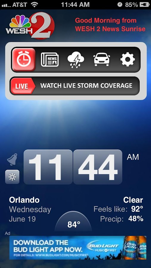 Alarm Clock WESH2 News Orlando - screenshot