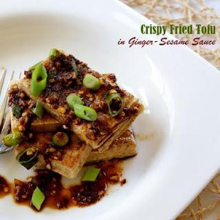 Crispy Fried Tofu with Ginger-Sesame Sauce Recipe