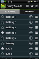 Screenshot of Funny Sounds