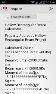 Hollow Rectangular Beam Calc - screenshot thumbnail