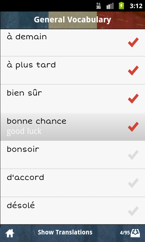 French GCSE Vocabulary AQA- screenshot