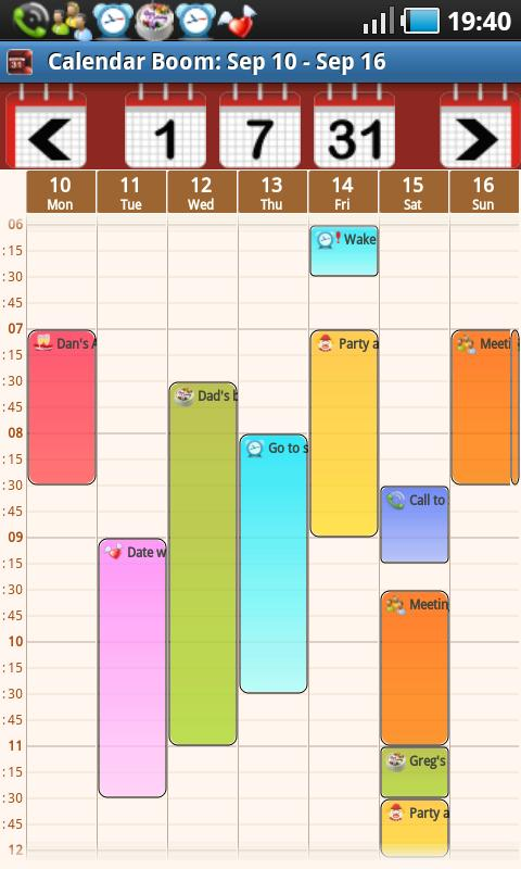 Business Event Calendar Boom - screenshot