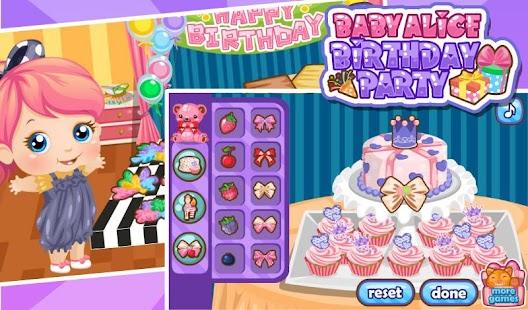 Birthday Party for Baby Alice 休閒 App-愛順發玩APP