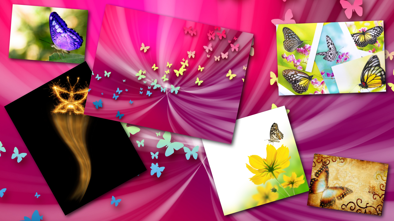 Glitter Butterflies HD PRO LWP - screenshot