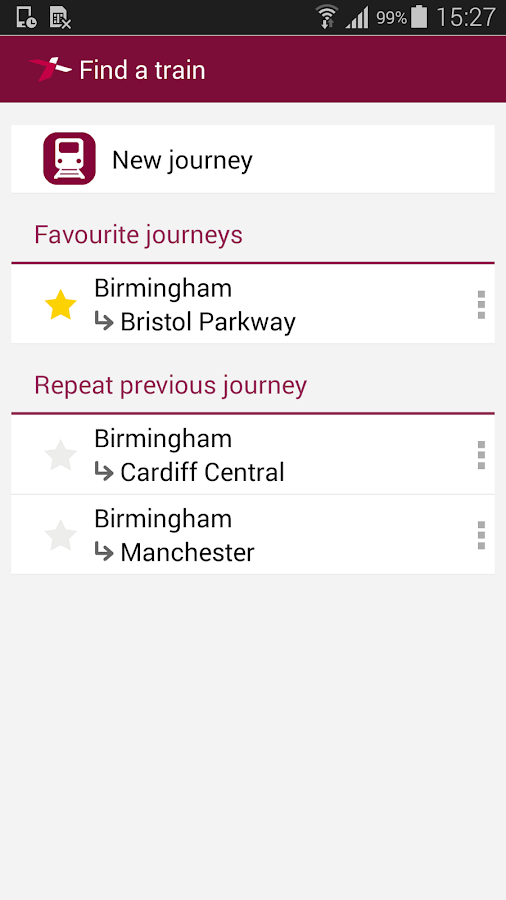 Train Tickets - screenshot
