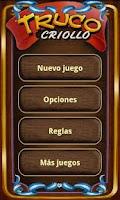 Screenshot of Truco Criollo