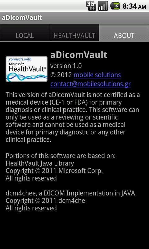 aDicomVault - screenshot