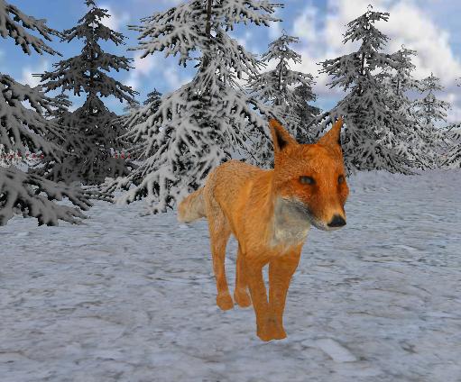 Голодная лиса