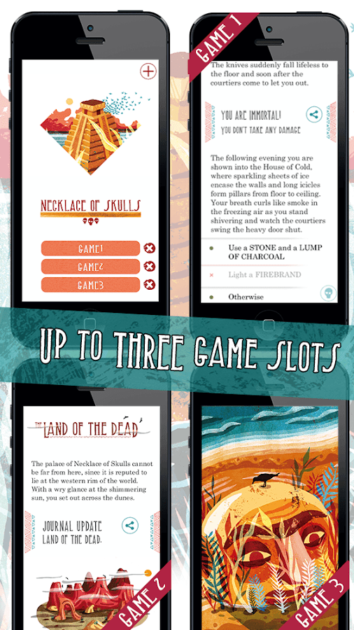 Necklace of Skulls – Gamebook- screenshot