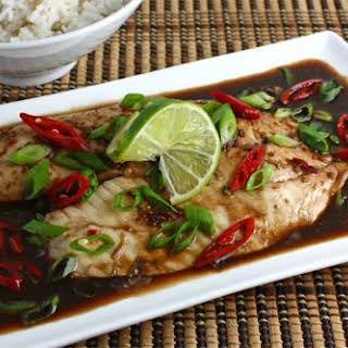 Tilapia Baked in Tamarind Sauce.