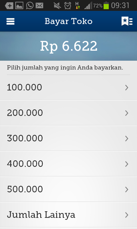 mandiri e-cash- screenshot