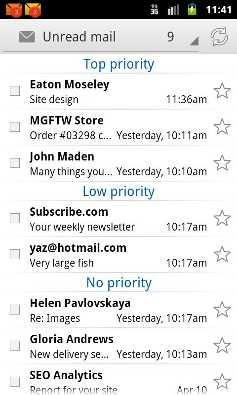 EmailTray Email App - screenshot