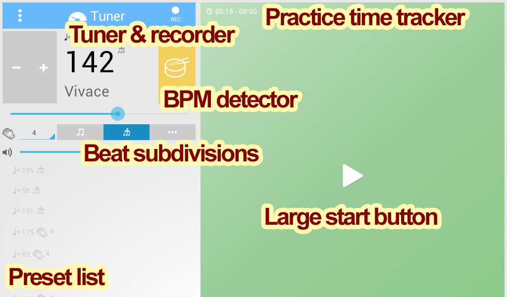 Tuner & Metronome - screenshot