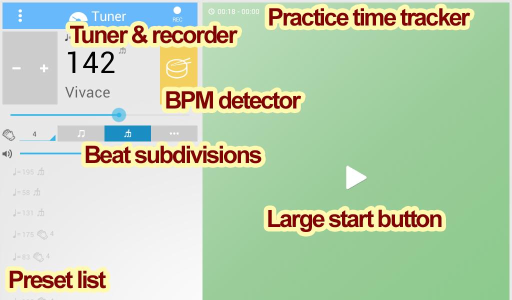 Tuner & Metronome - screenshot