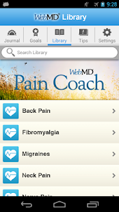 WebMD Pain Coach- screenshot thumbnail