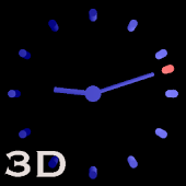 3D Cool Blue Analog Clock