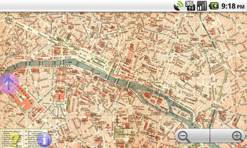 Offline GPS Paris 1898- screenshot