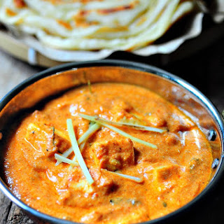 Paneer Makhani (Paneer Butter Masala) made in a Microwave.