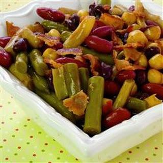 Fabulous Hot Five Bean Salad.