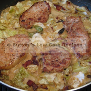 Pork Chops with Creamy Cabbage.