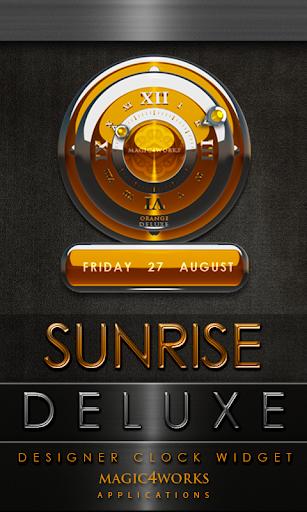 Sunrise Deluxe Clock Widget