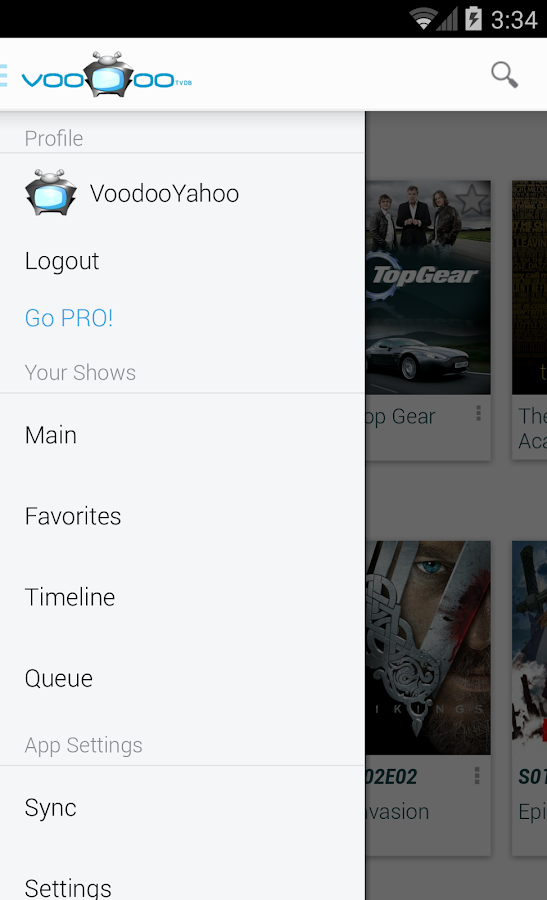 Voodoo TVDB - screenshot