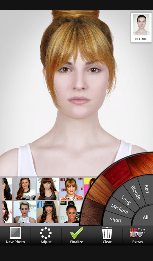 Marvelous Celebrity Hairstyle Salon Android Apps On Google Play Short Hairstyles Gunalazisus