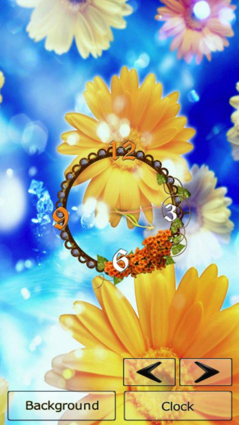 Flower Clock Free Wallpaper Android Apps On Google Play