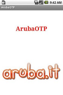 Aruba Mobile OTP - screenshot thumbnail