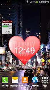 Valentines day Heart Clock