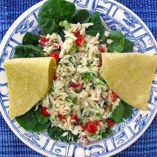 Crab Salad with Radishes, Jicama, and Jalapenos Recipe