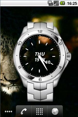 Metal Wach Widget Clock Time