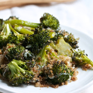 Cheesy Roasted Broccoli with Crispy Bread Crumbs