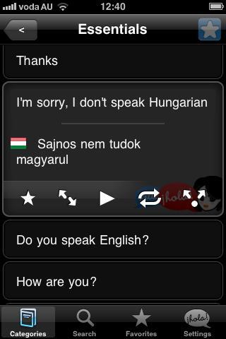 Lingopal Hungarian- screenshot