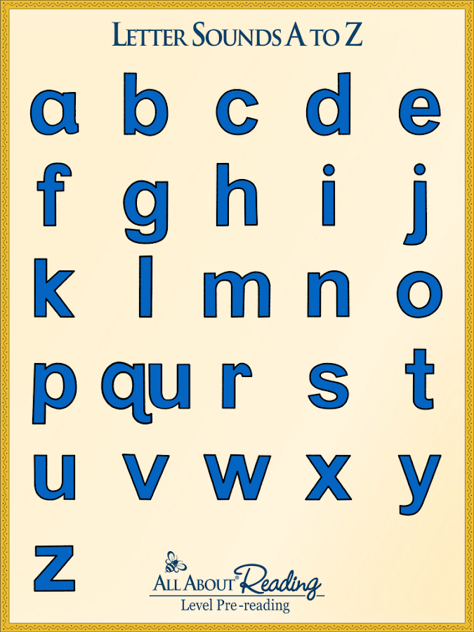 letter sounds a to z screenshot