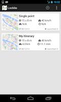 Screenshot of Lockito – Fake GPS itinerary